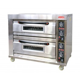 Electric Deck Oven, 2 Deck, 4 Plates